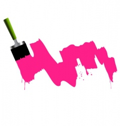 brush paint and splash vector image vector image