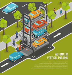 car parking poster vector image vector image