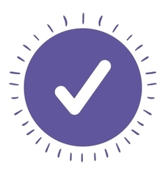check symbol isolated icon design vector image