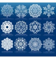 Christmas Design Snowflakes vector image vector image