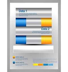Creative infographic template design vector