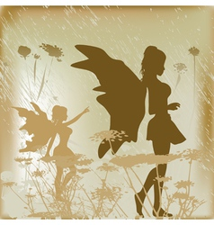 fairy background vector image