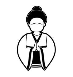 Geisha japan related icon image vector
