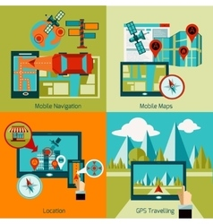 Gps navigation set vector