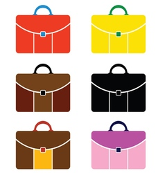 handbag set color vector image