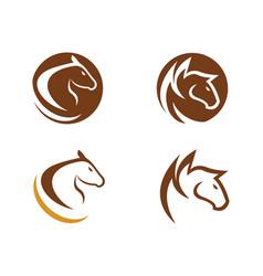 Horse logo template design vector