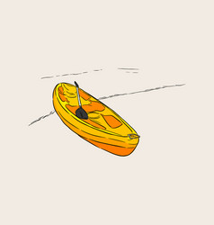 kayak sketch vector image vector image