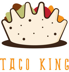 Mexican taco in the form of crown vector
