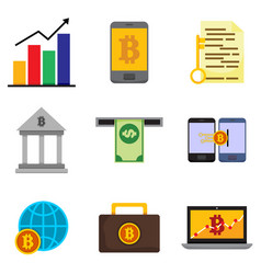 Money financial related graphic icon set vector