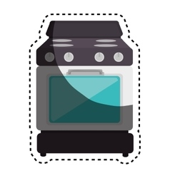 Oven kitchen appliance isolated icon vector