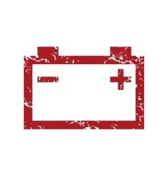 Red grunge accumulator logo vector