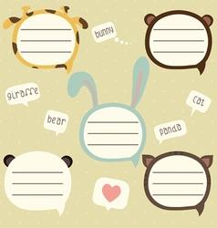 Speech bubble set for kids vector