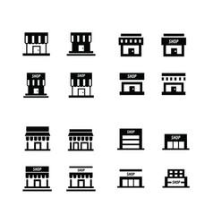 Supermarket icon set vector