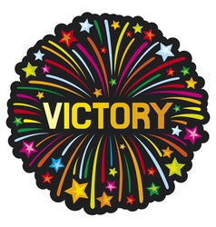 Victory firework vector