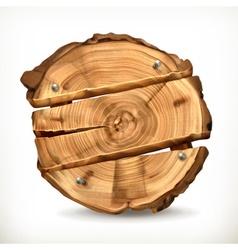 Wooden banner vector image vector image
