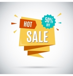 Advertising banner hot sale 50 percent off vector