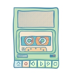 Audio tech isolated vector