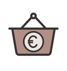 Euro basket vector