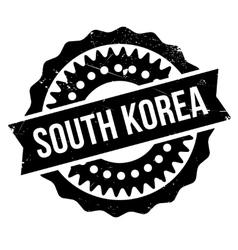 South korea stamp vector