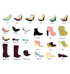 big shoes set vector image