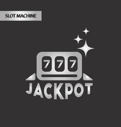 Black and white style jackpot lucky seven vector