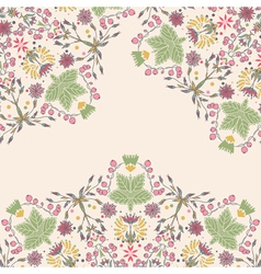 Ornamental floral card vector