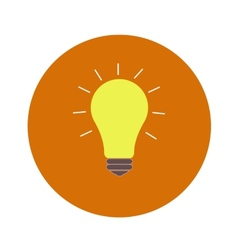 Lightbulb idea vector