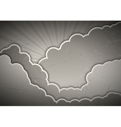 clouds gray vector image
