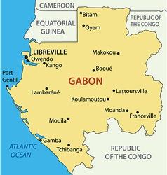Gabon - gabonese republic - map vector