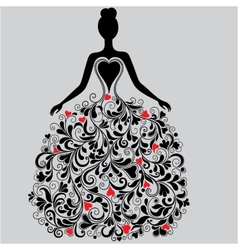 Silhouette of elegant dress vector