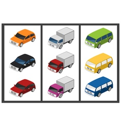 isometric car vector image