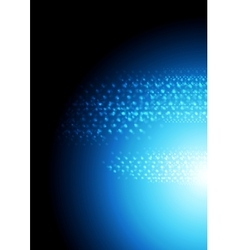 Dark blue abstract sparkling background vector