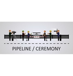 The opening ceremony of the pipeline vector