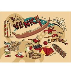 venice doodles vector image