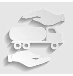 Car transports sign vector