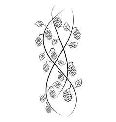 Doodle hand drawn vine grape vector image