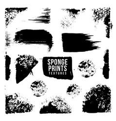 Artistic realistic sponge imprint texture vector