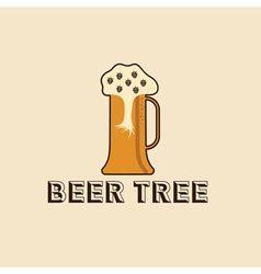 beer tree concept design template vector image vector image