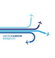 Blue planes vector