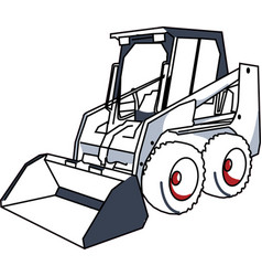 Bobcat mini excavator vector