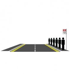 bus queue vector image vector image