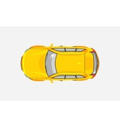 Car hatchback top view vector image