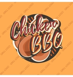 Creative logo design with chicken legs vector image
