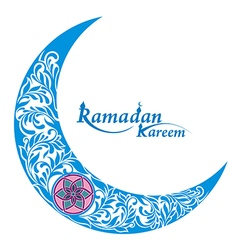 Decorative moon for holy month of muslim community vector