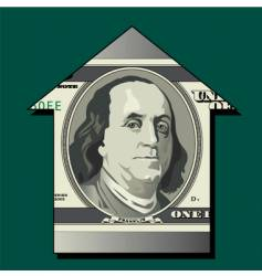dollar house vector image vector image