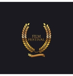 Film Festival Award Sign vector image vector image