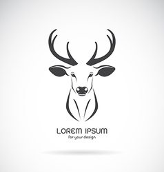 Image of a deer head design vector