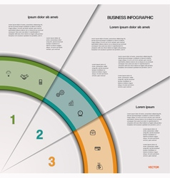 Infographic business process vector