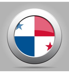 Metal button with flag of panama vector
