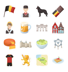 National flag clothing and other belgium vector